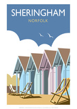 Sheringham - Dave Thompson Contemporary Travel Print