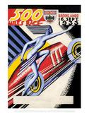 500 Miles Race 16th Sept 1933 - Silverstone Vintage Print