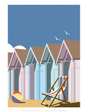 Beach Huts Close Up - Dave Thompson Contemporary Travel Print