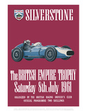 The British Empire Trophy 8th July 1961 - Silverstone Vintage Print