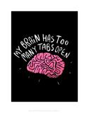 My Brain - Katie Abey Cartoon Print