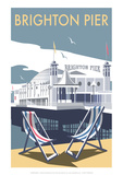 Brighton Pier - Dave Thompson Contemporary Travel Print