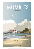 Mumbles - Dave Thompson Contemporary Travel Print