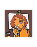 Self Portrait - Antony Smith Learn To Speak Cat Cartoon Print