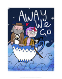 Away We Go - Katie Abey Cartoon Print