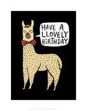 Have a Llovely Birthday - Katie Abey Cartoon Print