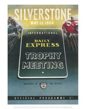 Trophy Meeting 15th May 1954 - Silverstone Vintage Print
