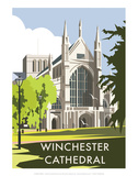 Winchester Cathedral - Dave Thompson Contemporary Travel Print
