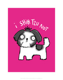 I Shihtzu Not - Katie Abey Cartoon Print