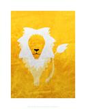 Lion - Jethro Wilson Contemporary Wildlife Print