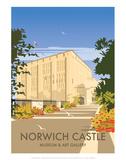 Norwich Castle - Dave Thompson Contemporary Travel Print