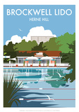 Brockwell Lido - Dave Thompson Contemporary Travel Print