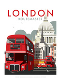 London Routemaster - Dave Thompson Contemporary Travel Print