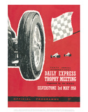 Official Programme 3rd May 1958 - Silverstone Vintage Print