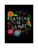 Be Nice - Katie Abey Cartoon Print