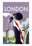 London - Dave Thompson Contemporary Travel Print