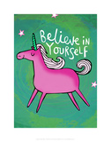 Believe in Yourself - Katie Abey Cartoon Print