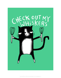 Check out my whiskers - Katie Abey Cartoon Print