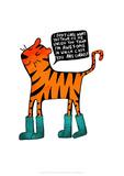 Tiger in Wellies - Katie Abey Cartoon Print