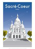 Sacre Coure - Dave Thompson Contemporary Travel Print