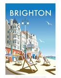 Brighton - Dave Thompson Contemporary Travel Print Reproduction d'art par Dave Thompson