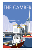 The Camber  Portsmouth V2 - Dave Thompson Contemporary Travel Print