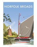 Norfolk Broads - Dave Thompson Contemporary Travel Print
