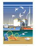 The Camber  Portsmouth - Dave Thompson Contemporary Travel Print