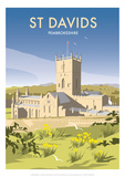 St Davids - Dave Thompson Contemporary Travel Print