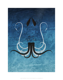 Giant Squid - Jethro Wilson Contemporary Wildlife Print Reproduction d'art par Jethro Wilson