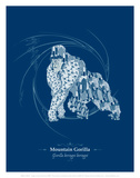 Gorilla - WWF Contemporary Animals and Wildlife Print Reproduction d'art par WWF