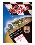 500 Miles Race - Silverstone Vintage Print