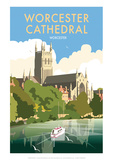 Worcester Cathedral - Dave Thompson Contemporary Travel Print