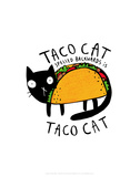 Taco Cat - Katie Abey Cartoon Print