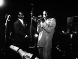 Miles Davis (C) with Oscar Pettiford and Bud Powell  Birdland  1949