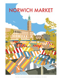 Norwich Market - Dave Thompson Contemporary Travel Print