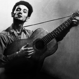 Musician Woody Guthrie (1912-1967) Considered as the Father of Folk Music C 1940