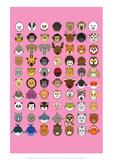 Mixed Pink - Animaru Cartoon Animal Print