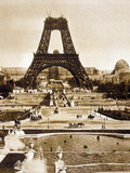 View from Chaillot Palace of Eiffel Tower Built for World Fair in 1889  Here 2nd Floor  1888