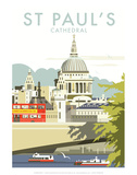 St Pauls Cathedral - Dave Thompson Contemporary Travel Print