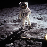 "1st Steps of Human on Moon: American Astronaut Edwin ""Buzz"" Aldrinwalking on the Moon"