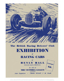 Exhibition of Racing Cars - Silverstone Vintage Print