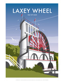 Laxey Wheel - Dave Thompson Contemporary Travel Print