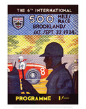 500 Miles Race 22nd Sept 1934 - Silverstone Vintage Print