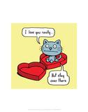 I Love You Really - Antony Smith Cattitude Cartoon Print