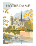 Notre Dame - Dave Thompson Contemporary Travel Print