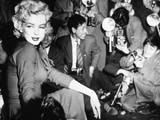 Marilyn Monroe Surronded by Photographers C 1955