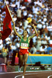 Olympic Games in Los Angeles  1984 : Moroccan Athlet Said Aouita Win the 5000M