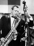 Saxophone Player Jimmy Giuffre at International Jazz Festival February 20  1960