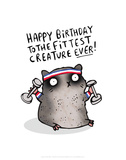 Fittest Creature Ever - Katie Abey Cartoon Print